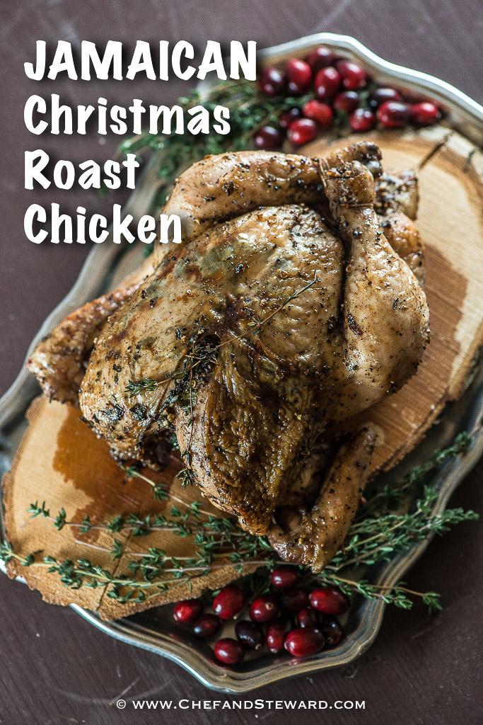 Christmas Roast.Jamaican Roast Chicken For Christmas