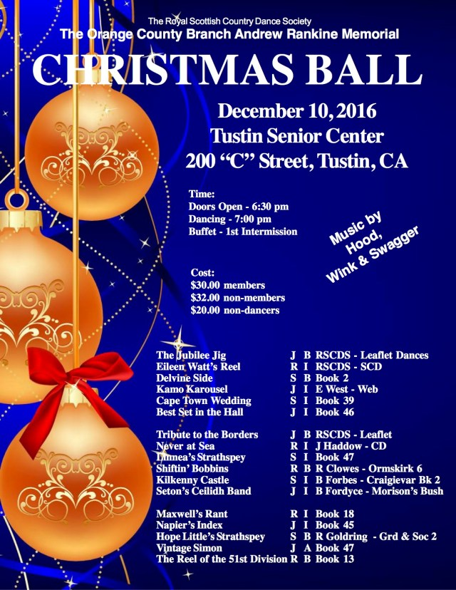 OC Christmas Ball 2016 Flyer