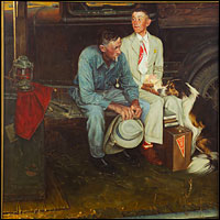 Norman Rockwell knowck-off by Trachte