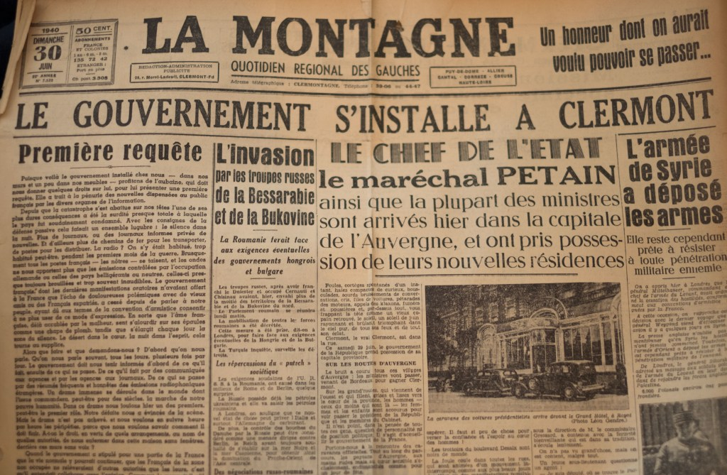 Clermont-Ferrand WWII France History War Auvergne Petain