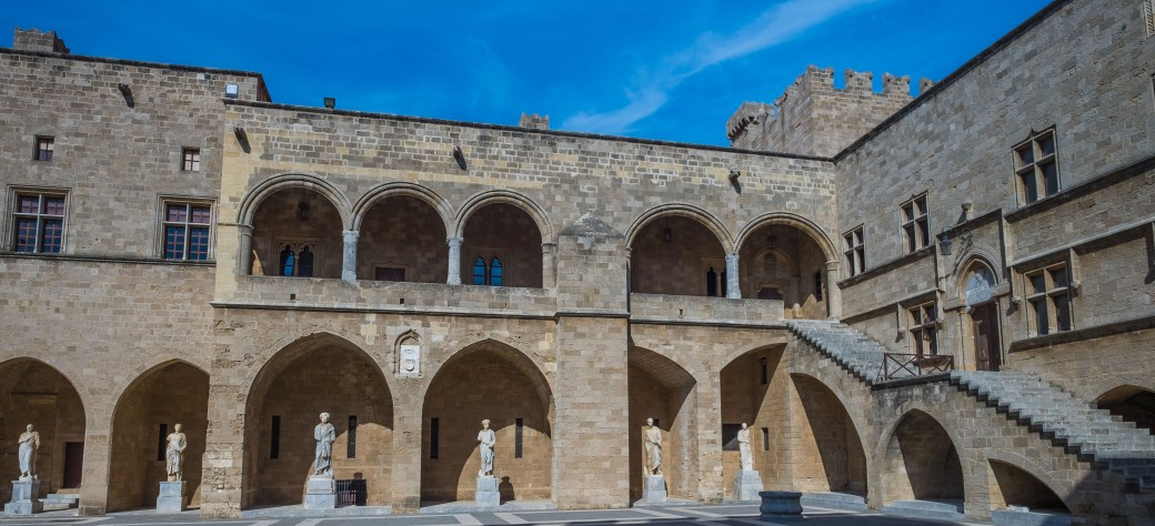 Rhodes Greece Auvergne France Crusades Knights Medieval