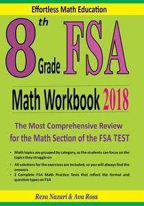 8th Grade Fsa Math Workbook 2018 The Most Comprehensive Review For