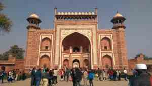 The Gateway entrance to the Taj Mahal