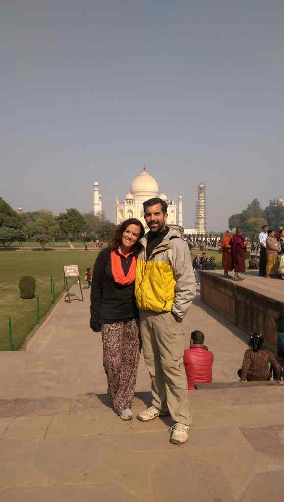 Darcee and Eric Gamble at the Taj Mahal