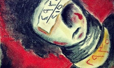 اللوحة للفنانة بتول محمد
