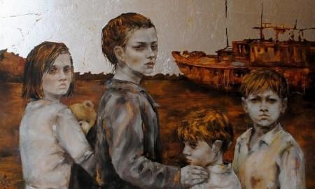 اللوحة للفنانة مروة النجار