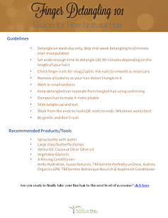 Detangling101 Checklist