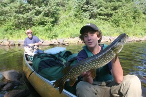 Canoeing and fishing in the Boundary Waters Canoe Area Wilderness