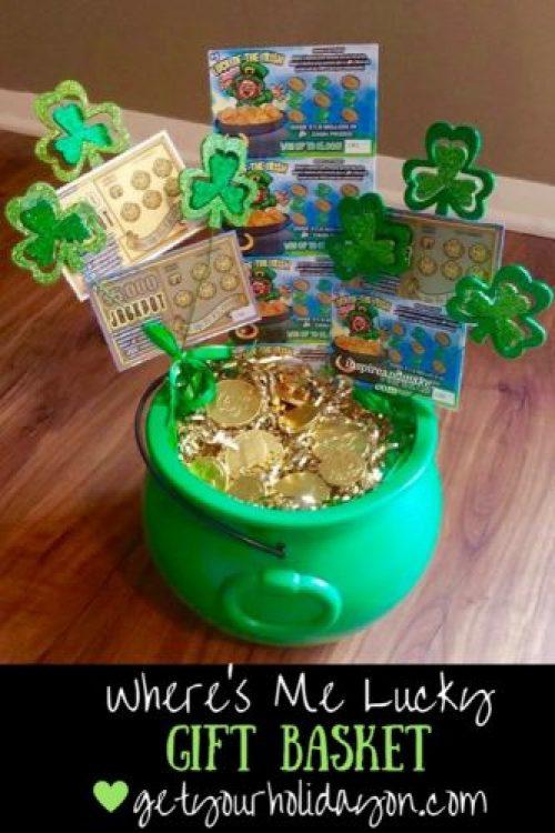 Irish gift basket, lottery basket, gift basket, unique idea, St. Patrick's Day inspired