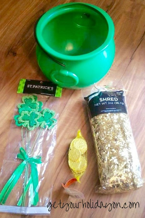 St. Patricks Day Lottery Basket Project