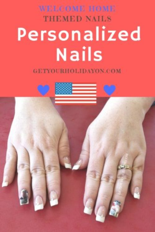 Welcome Home Personalized Nails for a military wife