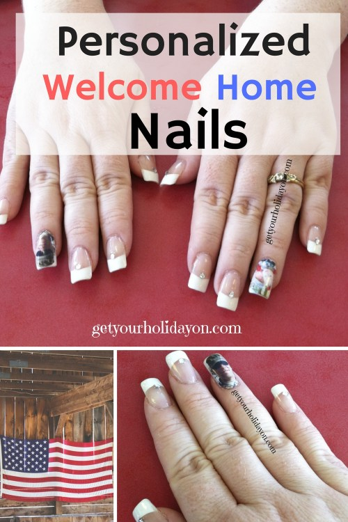 personalized welcome home military nails
