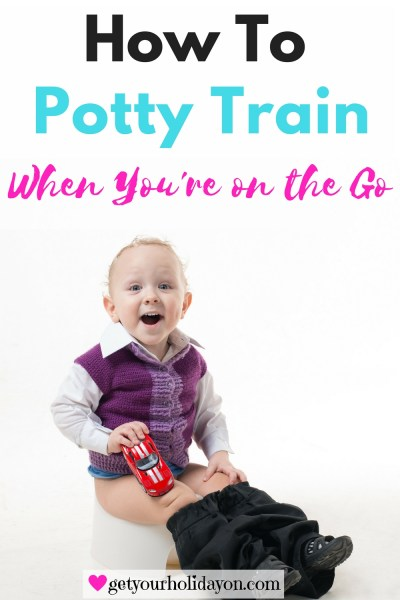 I am a mom of three kids and my husband was active duty military, we dealt with a lot of traveling and being on the go when our kids were really young. I am here to share my experiences and tips and tricks with you to help you through potty training your little one on the go.