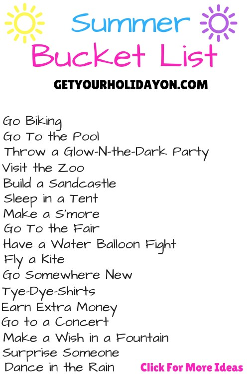 What Summer Bucket List have you started? Do you need ideas and inspiration for what to do this summer. Lets start this summer off right with biking, glow-n-the-dark-party, pool time fun, kids fun, and activities galore!