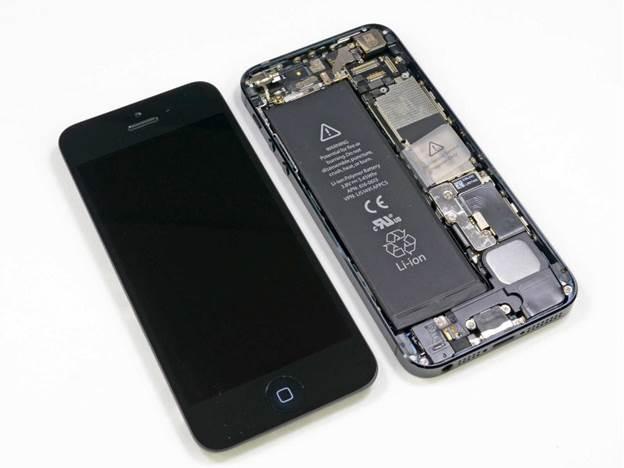снимаем стекло с ЖК-дисплеем iphone 5