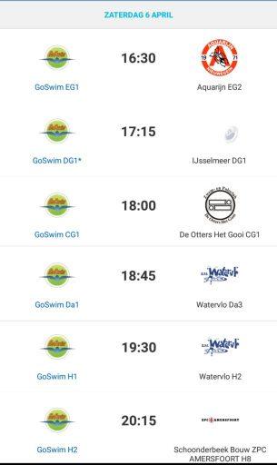 GoSwim wedstrijden week 14-2019