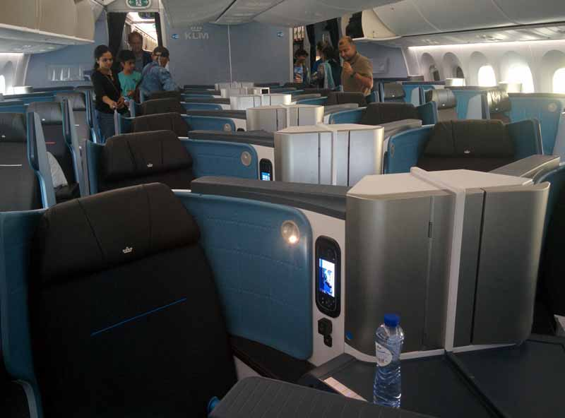 klm 787-9 new world business class seats laid back traveller