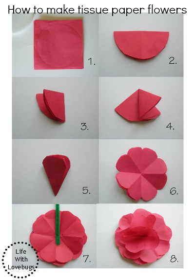 Tissue paper flowers life with lovebugs tissue paper flower tutorial mightylinksfo