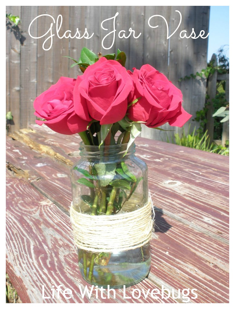 easy decorating glass jar vase life with lovebugs. Black Bedroom Furniture Sets. Home Design Ideas
