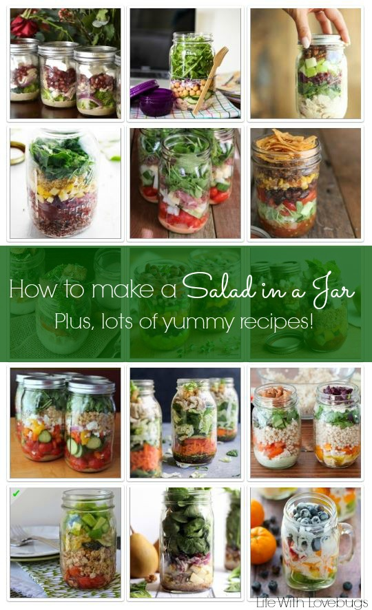 How to Make a Salad in a Jar + Recipes!