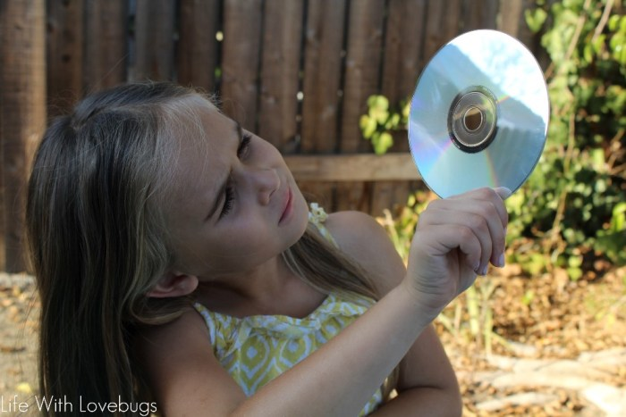 Kid's Upcycle Project - CD Rainbow Maker