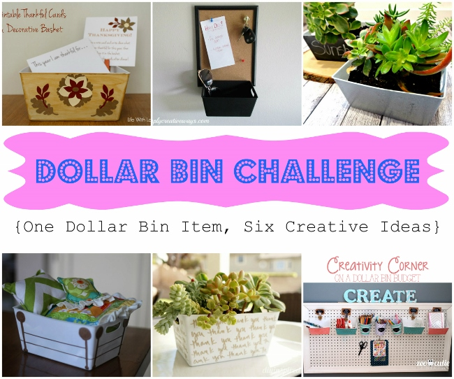 Dollar Bin Challenge - (6) Bloggers created projects with a white basket found in the dollar bin!