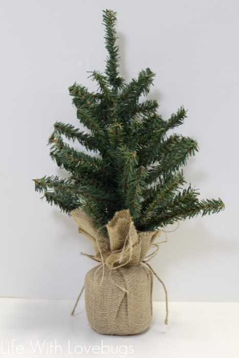 Mini Christmas Tree Side Table Decor