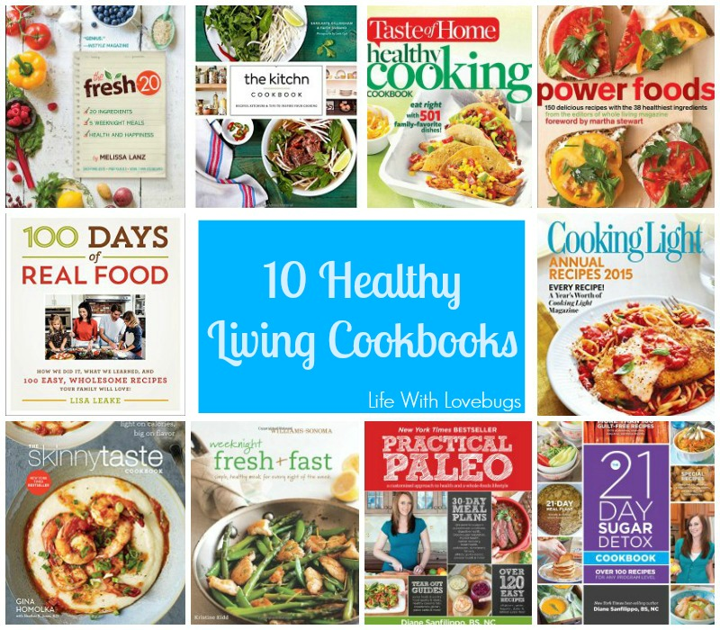 10 Healthy Living Cookbooks