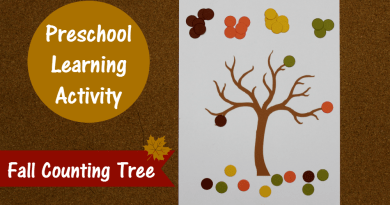 Preschool Learning: Fall Counting Tree
