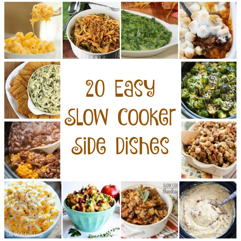 20 Slow Cooker Side Dishes