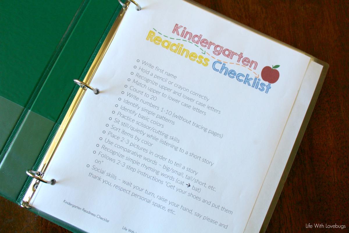 graphic regarding Kindergarten Readiness Checklist Printable titled Taking Prepared for Kindergarten - Printable List - Lifestyle
