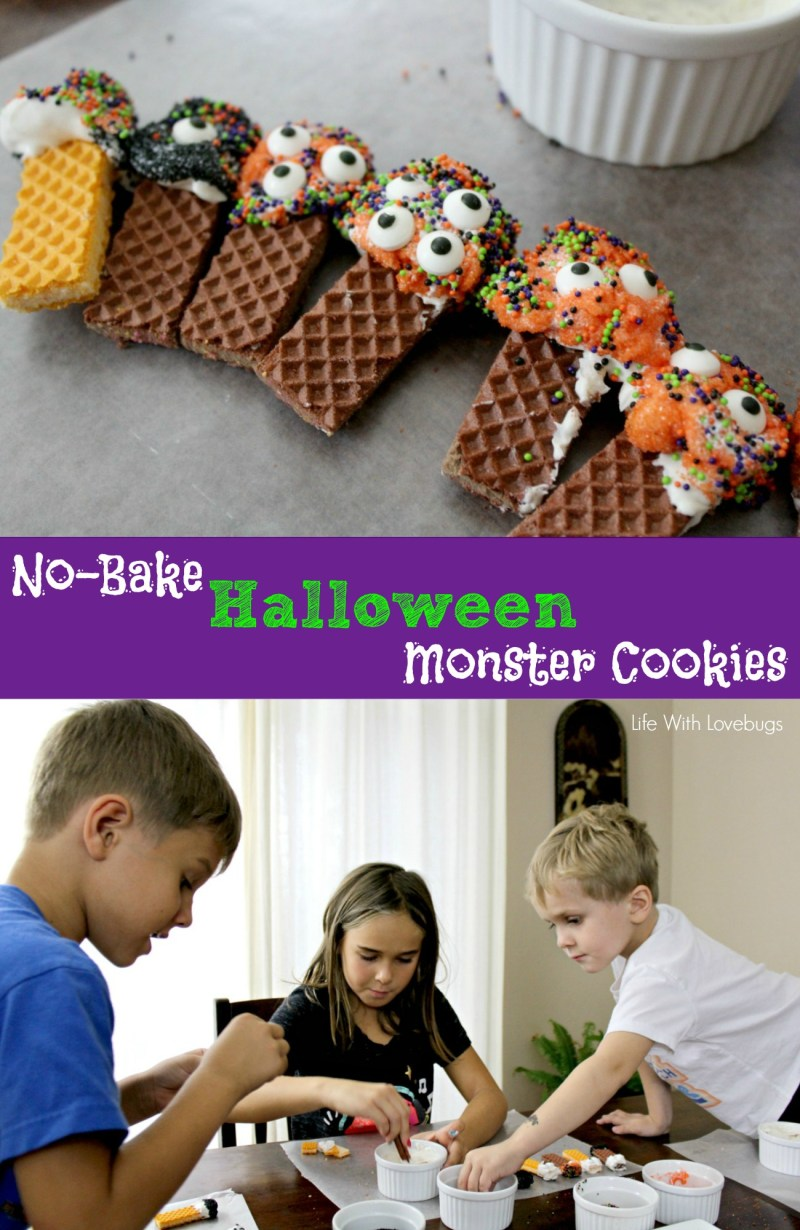 No-Bake Halloween Monster Cookies