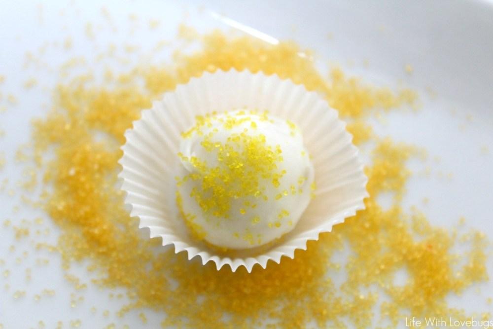 Lemon Cake Batter Bites