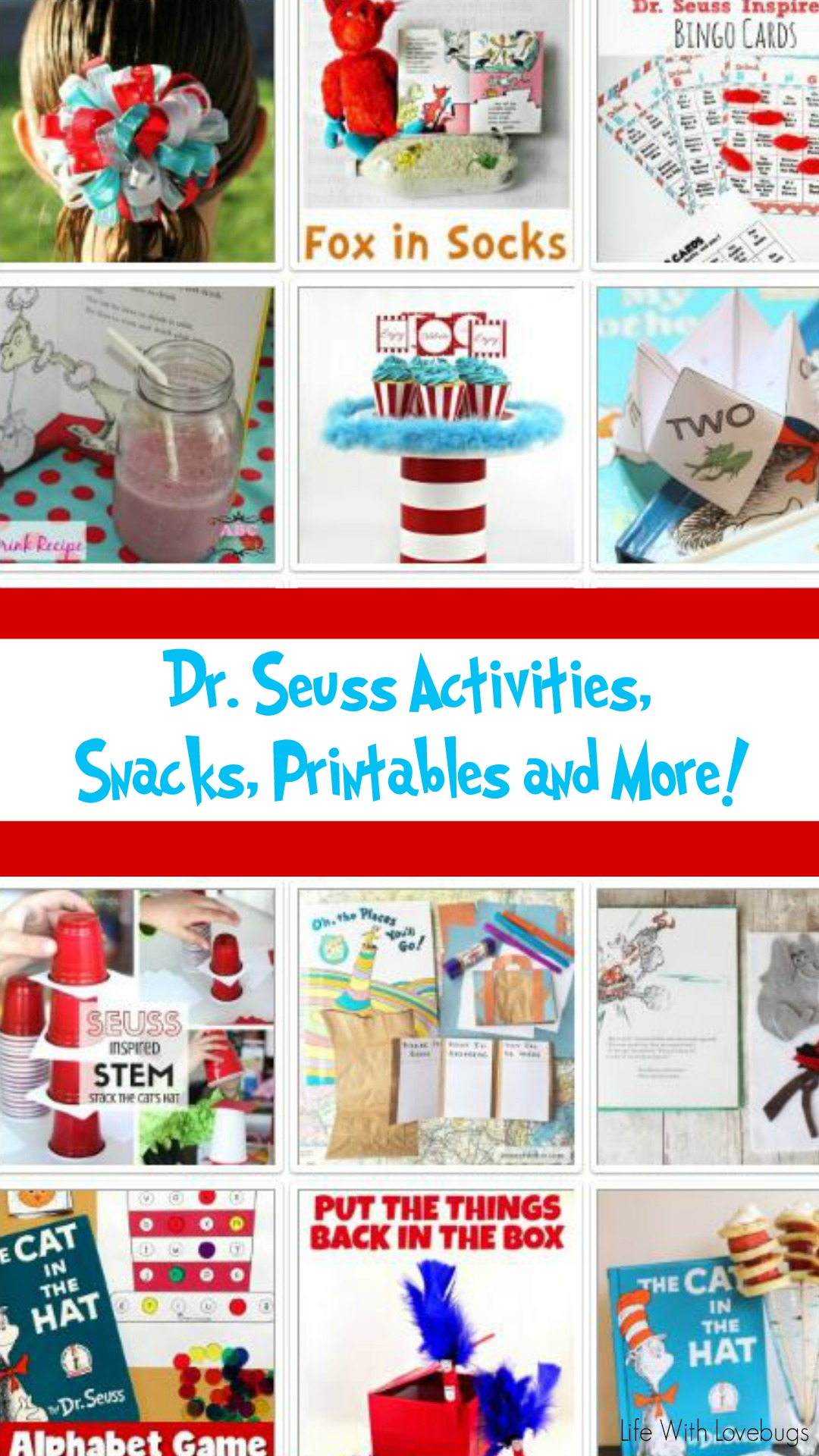 Dr. Seuss Inspired Activities, Snacks, Printables and more! - Life ...