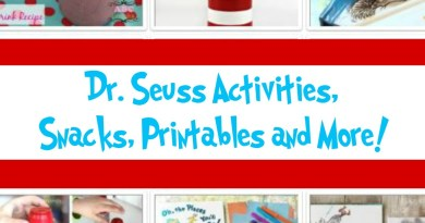 Dr. Seuss Inspired Activities, Snacks, Printables and more!