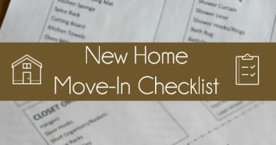 New Home Move-In Checklist