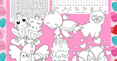 Valentines Day Activity and Coloring Sheets
