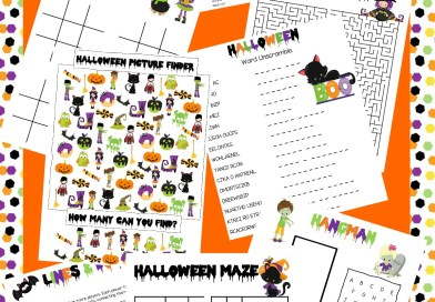 Printable Halloween Activities: Mazes, Picture Finder, Word Search and more!
