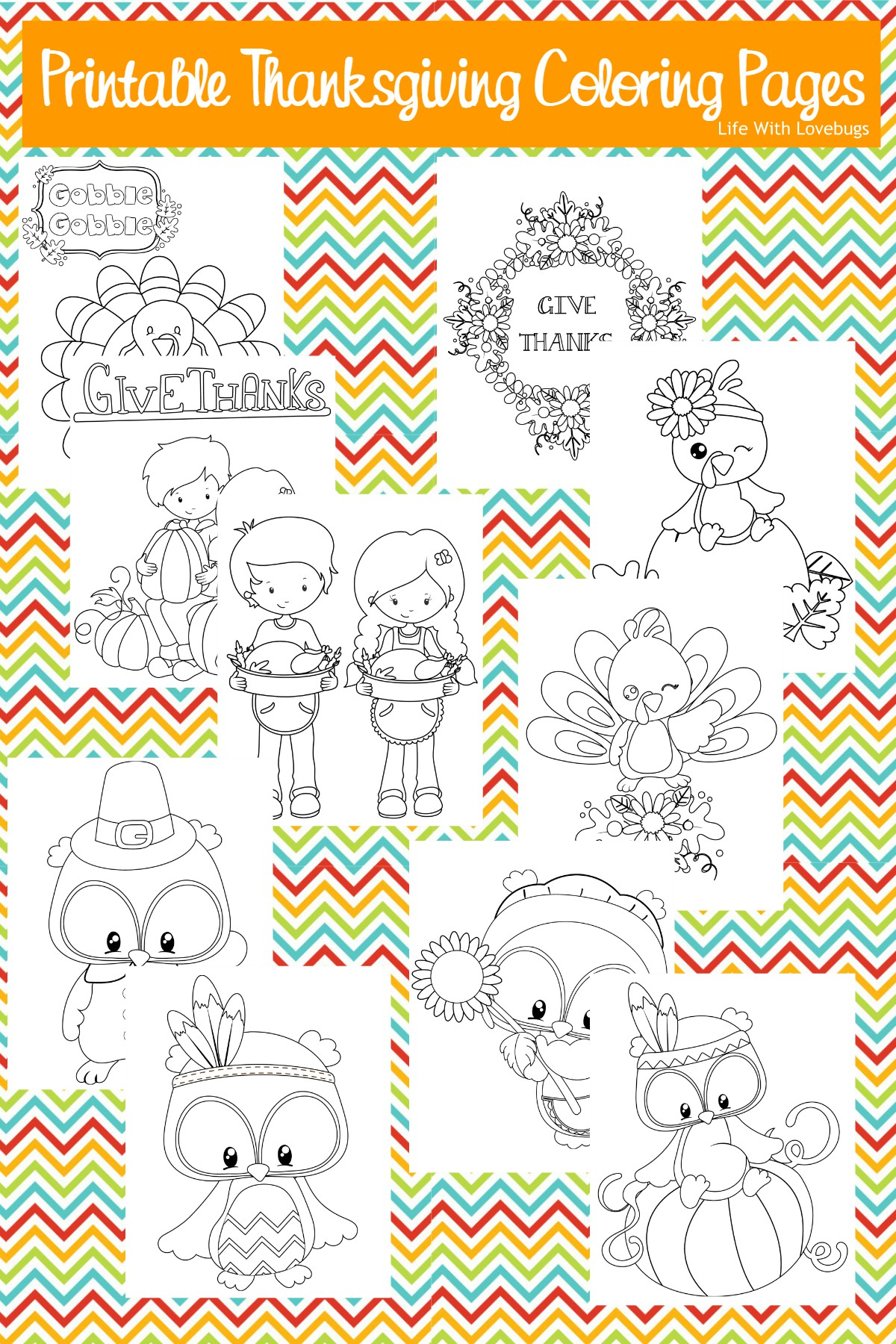 Thanksgiving Printable Coloring Pages For Kids - Life With Lovebugs