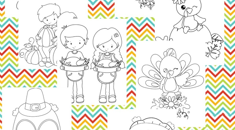 Printable Thanksgiving Themed Coloring Pages for Kids