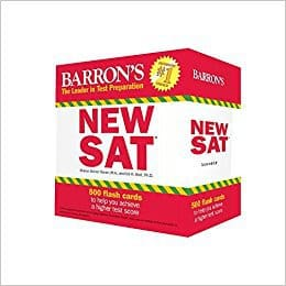 Barron's New SAT Flashcards (Best SAT Prep Books)