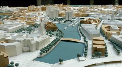 Die Waisenbrückeim Stadtmodell