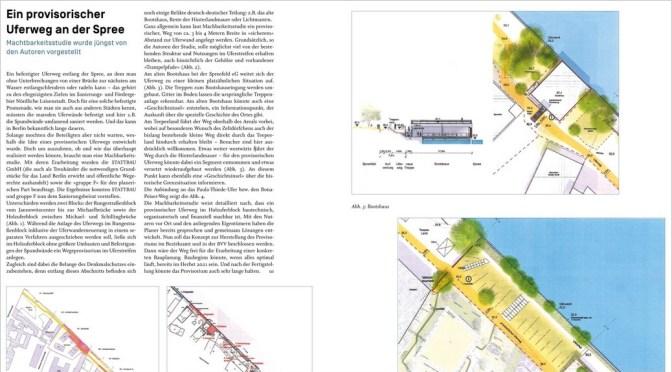 Machbarkeitsstudie: Ein provisorischer Uferweg an der Spree