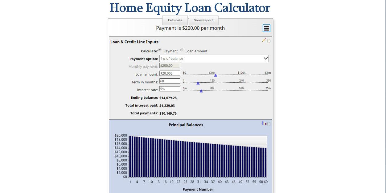 home equity loan calculator mls mortgage