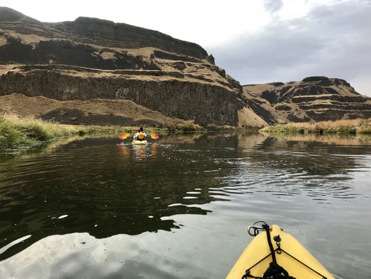 Palouse River kayak with UnCruise. Photo by Julie McCool