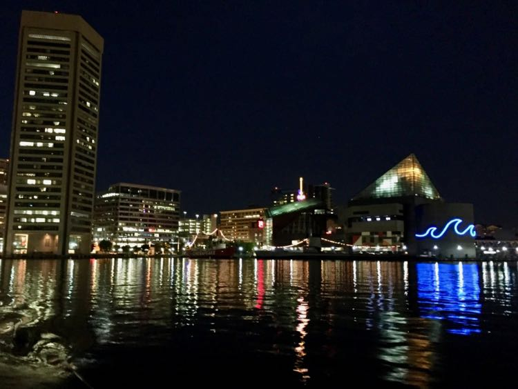 Inner Harbor from the water taxi Baltimore Maryland