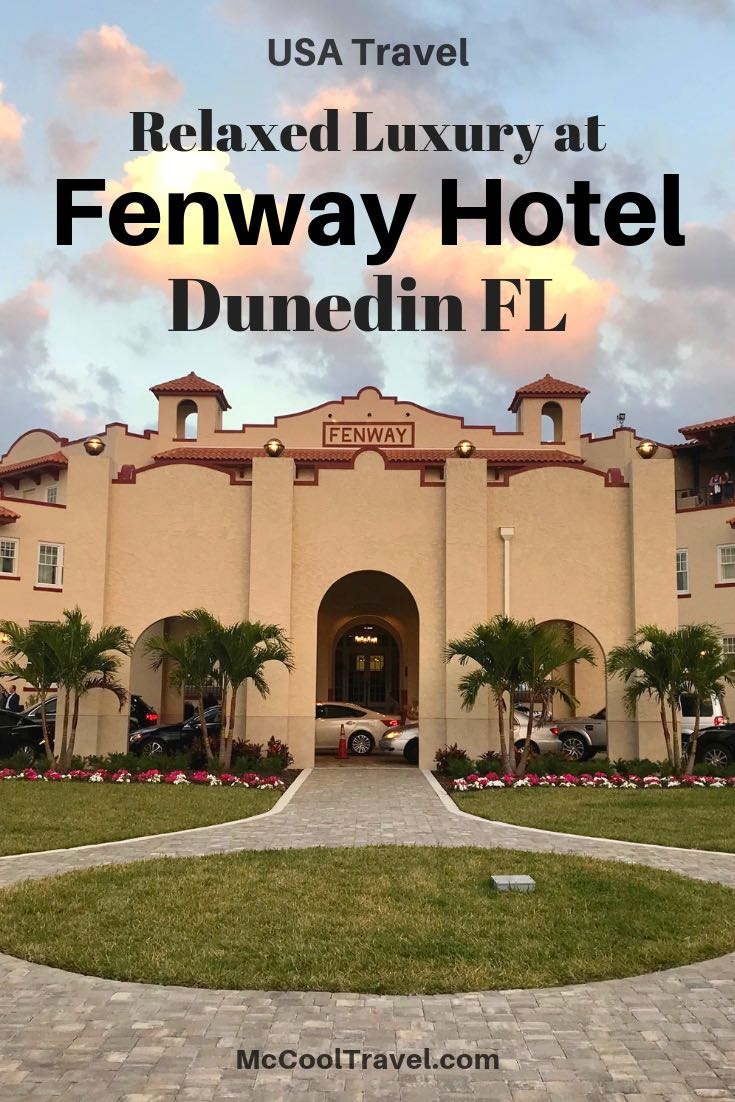 Fenway Hotel in Dunedin Florida is a classic US Gulf Coast hotel & embraces its music history past, reflected in their tagline of A Place Humming With Soul.