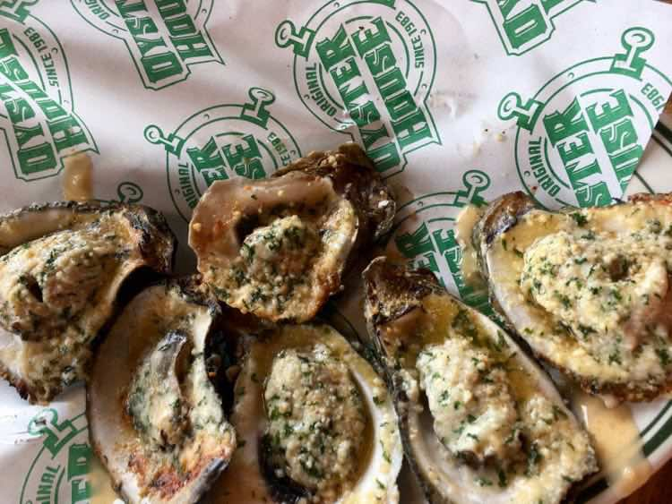 Original Oyster House fire-grilled oysters are among the best things to eat in Mobile AL