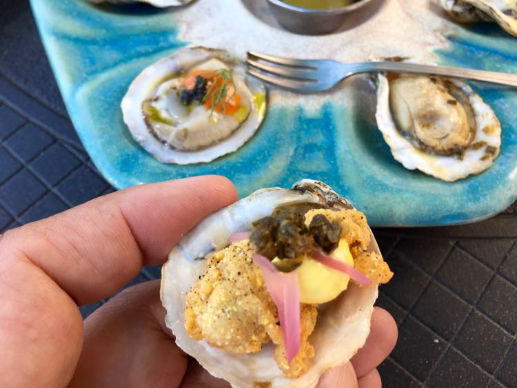 local French Hermit oysters at White Pillars in Biloxi MS