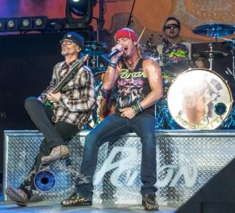 Bobby Dall, Bret Michaels and Rikki Rockett of Poison. Photo by Sean Derrick/Thyrd Eye Photography